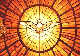Alegoria del Espiritu Santo en la Basilica de San Pedro, Roma