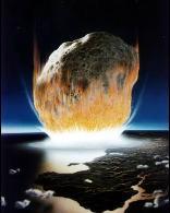 Imagen de un asteroide que impacta nuestro planeta Tierra