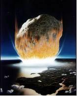 Meteorito sobre la superficie de la Tierra