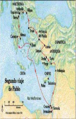 segundo viaje de pablo misionero