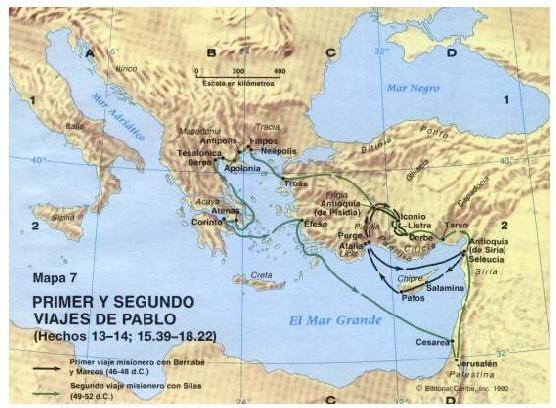 Mapa viajes de pablo for Cuarto viaje de pablo